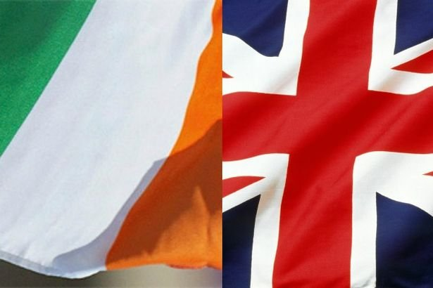 ireland and uk flags