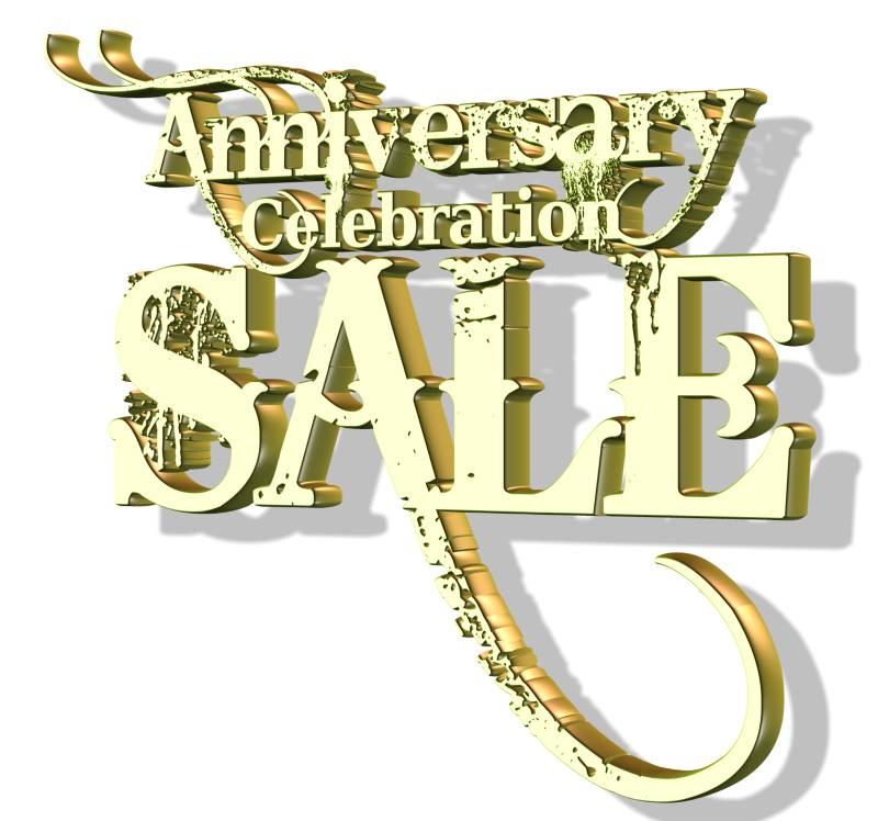 One year anniversary sale