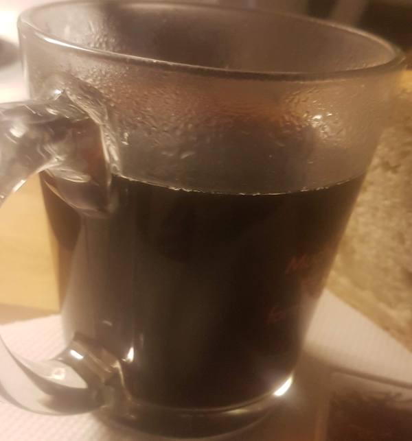 black coffee with saffron