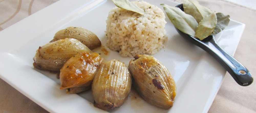 onion dolma - stuffed onion ground beef